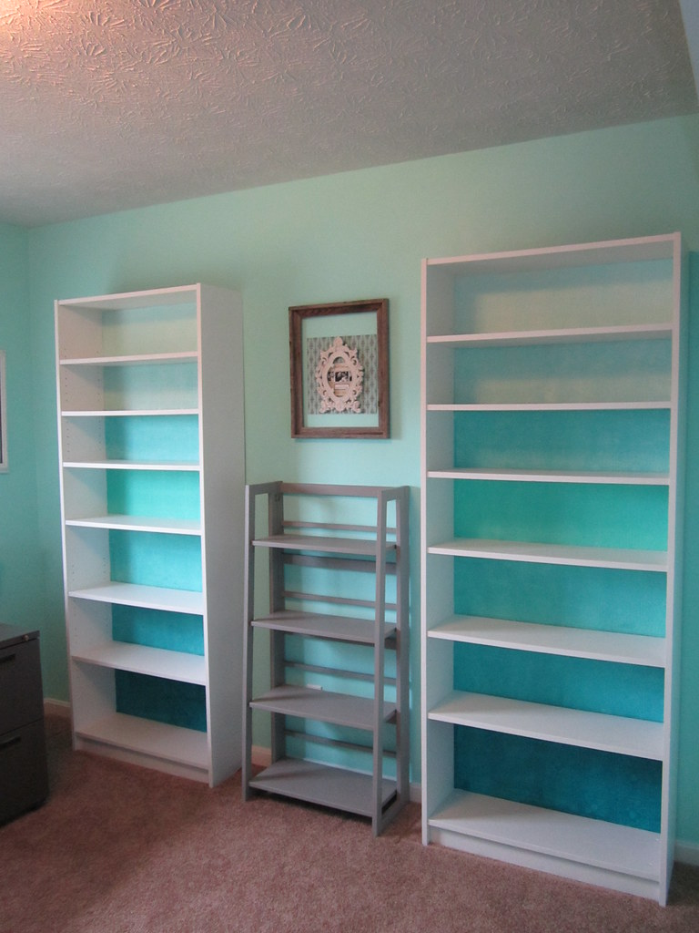 Ikea Billy Bookcase Hack Blue Ombre Tin Tile Star Hungry