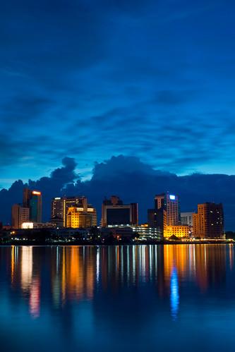 city longexposure blue light cloud building landscape asia cloudy sony cityscapes sarawak malaysia borneo slowshutter kuching slt a77 sonyalpha sarawakborneo iamflickr sonyalphagalleria slt77