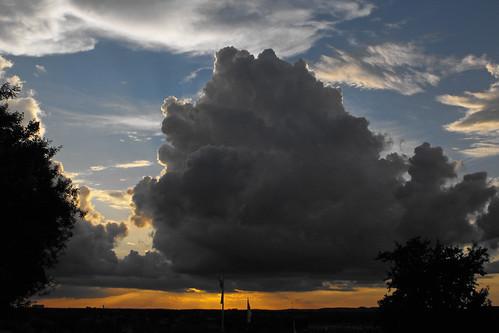 sunset orange cloud storm night burnt