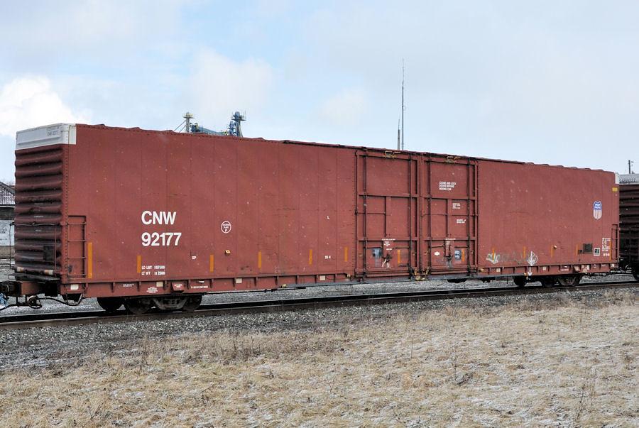 CNW#92177 AUTO-PARTS BOXCAR UP SHIELD DESHLER,OHIO 2-16-13