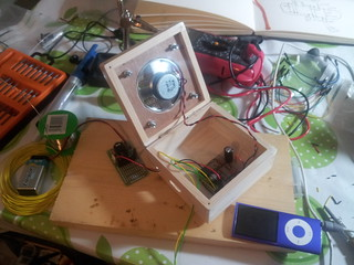 Speaker and circuit inside box | by lilspikey