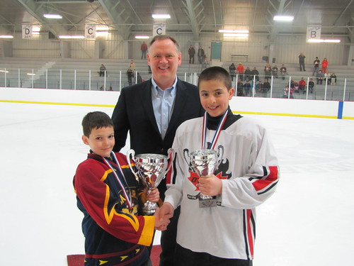 Presenting Trophies for the South End and Ottawa East Hockey Tournament (Atom Level) | by davidmcguinty