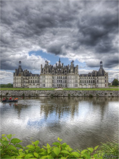 2012-08-07 131159 #reflection of #Chambord #Castle #Loire