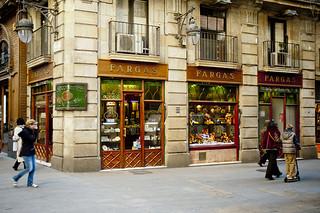 Xocolateria Fargas - Barcelona. Desde 2015 ja no hi és en aquest edifici.