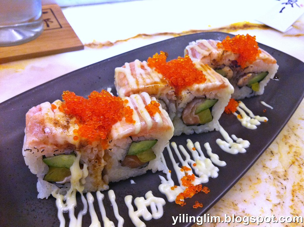 Grilled Salmon Roll Ichiro Sushi Bar 1 Utama Yiling Lim Flickr