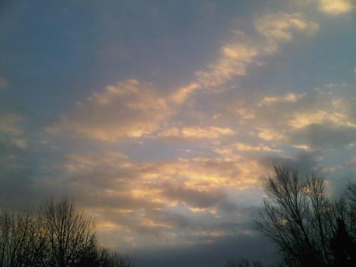 sky oklahoma clouds sunrise mustang ok
