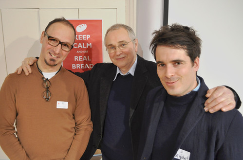Emmanuel Hadjiandreou, Andrew Whitley and Tom Herbert at the Real Bread Campaign gathering 24JAN13 | by Real Bread Campaign