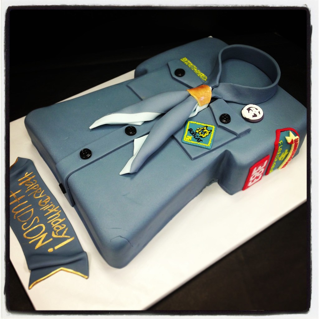 Sensational Cub Scout Birthday Cake Jenna Jones Flickr Personalised Birthday Cards Cominlily Jamesorg