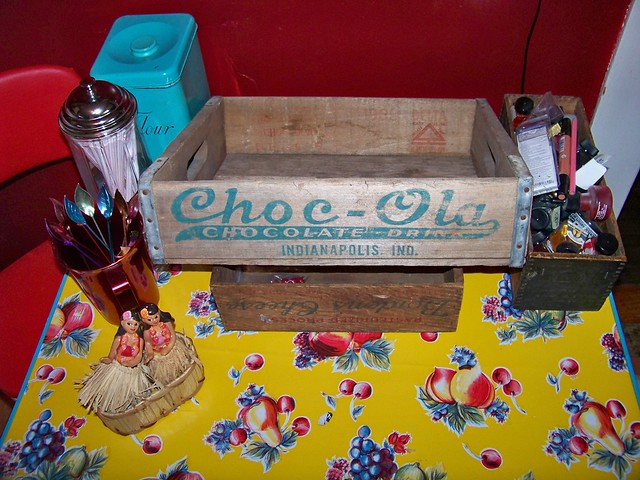Tue, 02/12/2013 - 9:25am - My wife found this old Choc-Ola crate for our kitchen.  My uncle used to drive for them, and this makes me remember being 4 or 5 or so and getting to sit up in his big brown semi.<br />