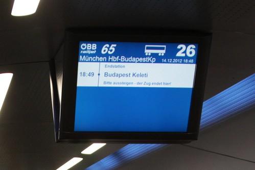 Arrival at Budapest Keleti station