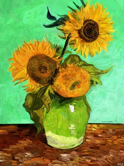 Van Gogh with an iPad