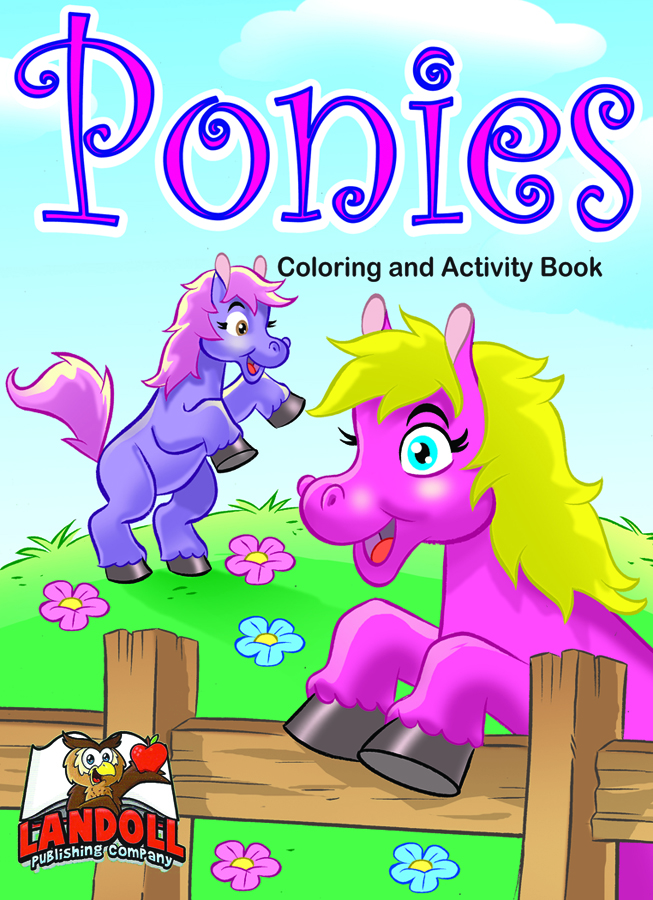 "Landoll Publishing Company :: ""PONIES"" Coloring & Activity Book (( 2013 )) by tOkKa"