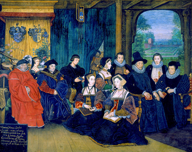after Hans Holbein dJ - Die More family mit Ahnen