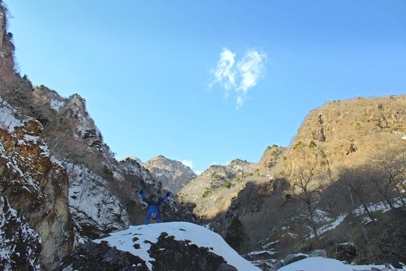 雲竜渓谷 冬のトレッキング