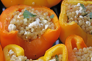 Stuffed Peppers with Feta and Pearled Couscous | by Michael Beyer Photography