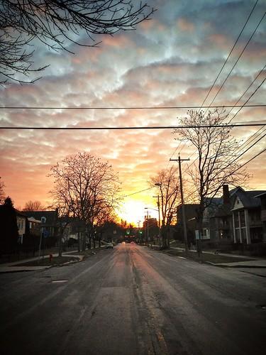 sunset sky syracuse iphone syracuseuniversity euclidavenue iphone5 snapseed