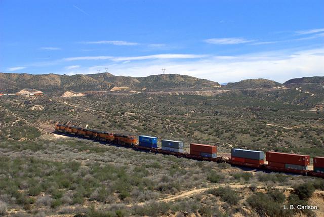 BNSF Stack Train at Cajon Pass
