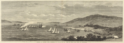 Regatta at Hobart Town, Tasmania in honour of The visit of 'H.R.H.' Duke of Edinburgh and, Hobart Town, the capital of Tasmania | by Tasmanian Archive and Heritage Office