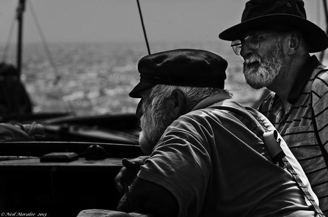 Sailing in dangerous waters.