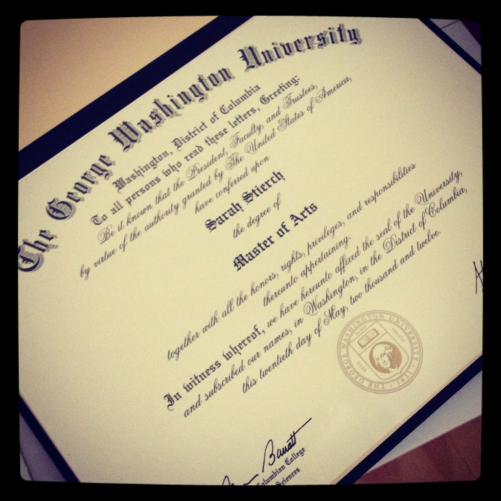 A masters degree