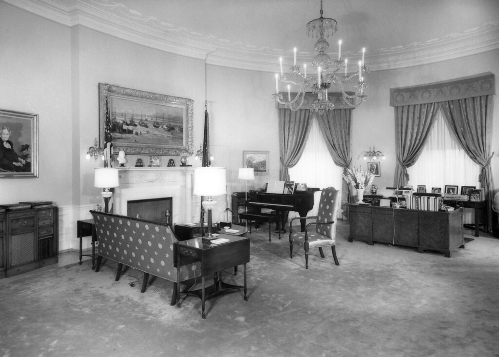 El salón familiar en la época de Truman