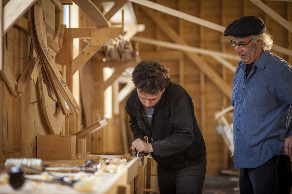Father And Son Boat Building Wooden Boat Museum Of Newfou Flickr
