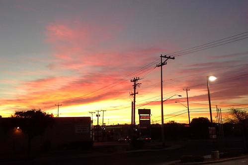 sky orange corner sunrise store burnt rd sanantoniotx valero dezavala postofficecenter