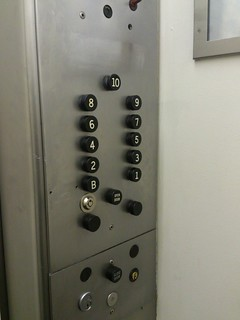 Cab Buttons, Old Otis Elevator   by ElevatorTour