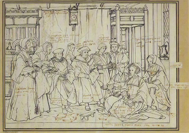 Hans Holbein dJ - The Thomas More family (sketch)