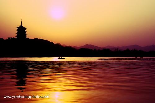 china sunset lake westlake hangzhou yewkwang photographybyyewkwang