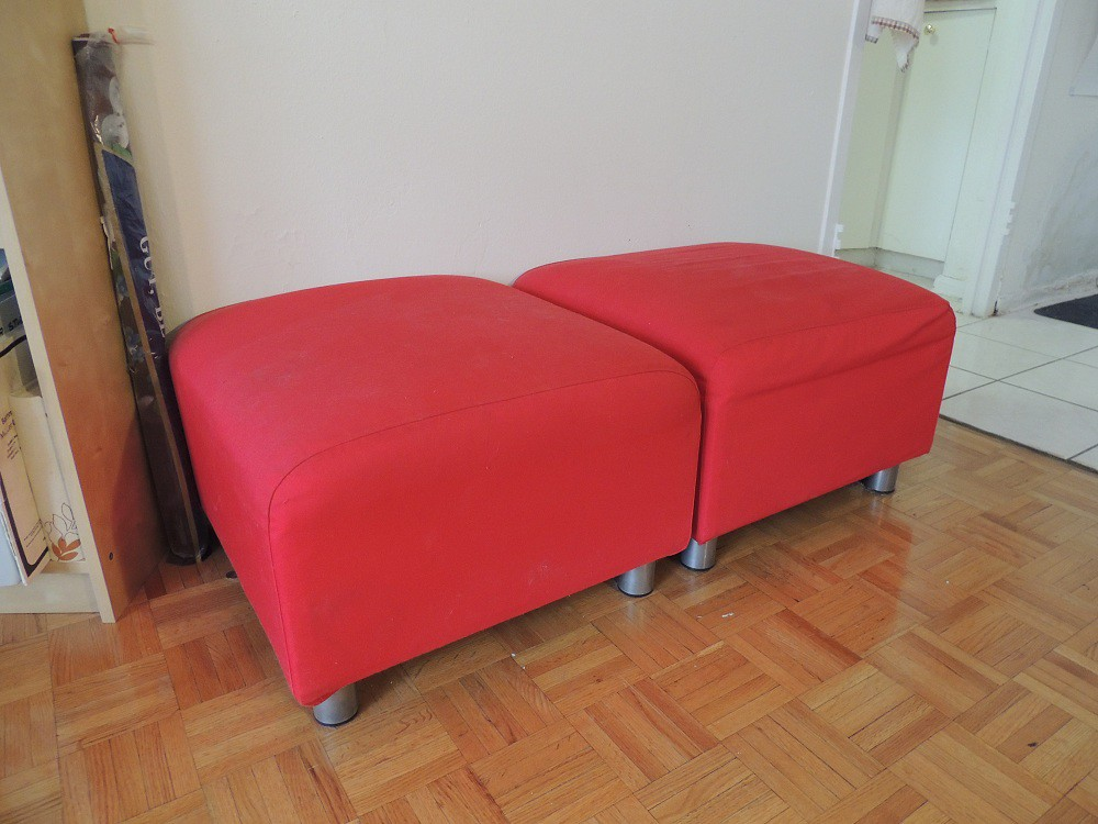 1 Ikea Klippan Red Ottoman For 10 Cad No Longer Available