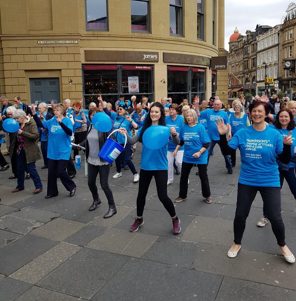 discount shop shop release date: Unite for Parkinson's Flashmob- Newcastle   Newcastle Flashm ...