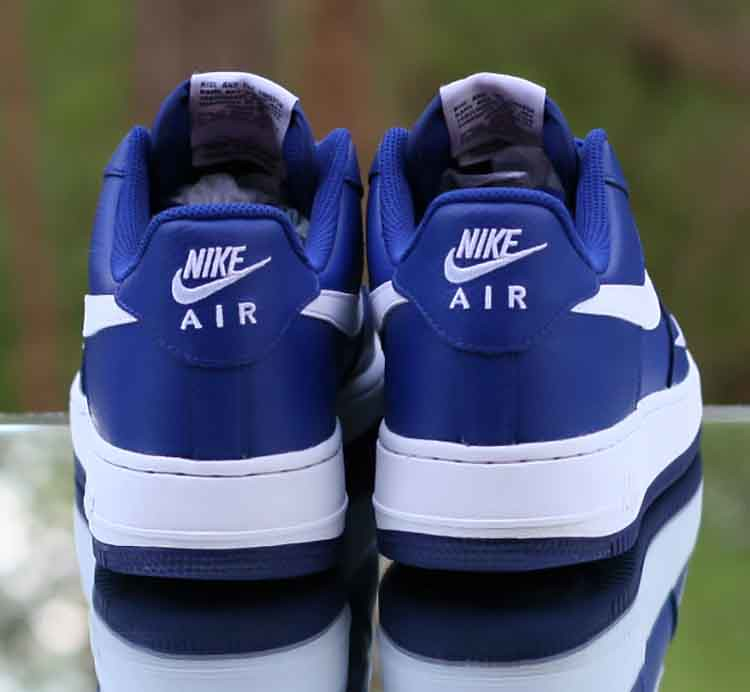 latest fashion running shoes wide varieties Nike Air Force 1 Low '07 Deep Royal Blue White Mini Swoosh ...