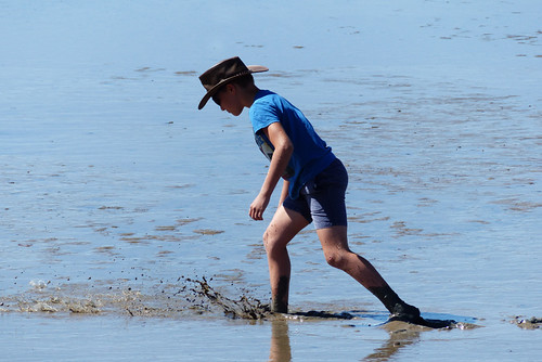 Cardwell, boy in mud | by ozzie_traveller