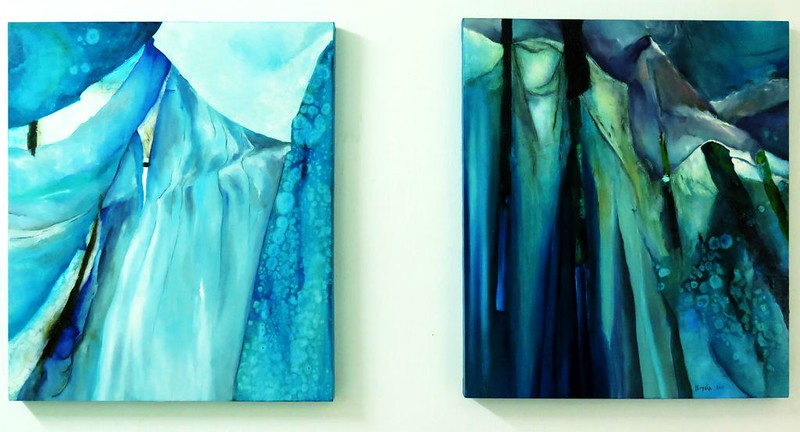 Blue Velvet - diptych 90x150 cm. Oil on canvas 2016