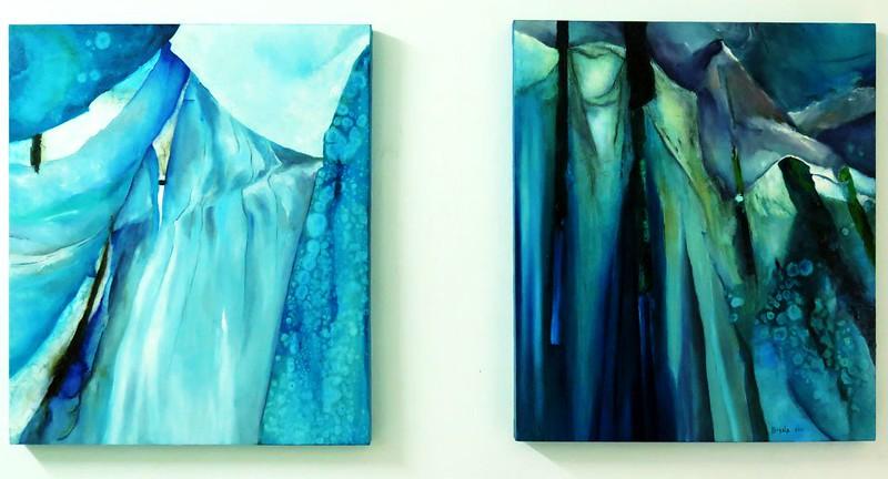 Blue Velvet - diptych 90x150 cm. Oil on canvas 2016