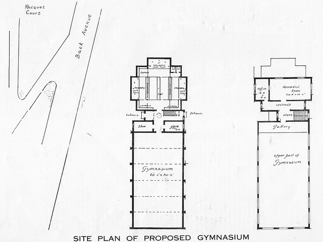 Richard Orpen drawing for new gymnasium