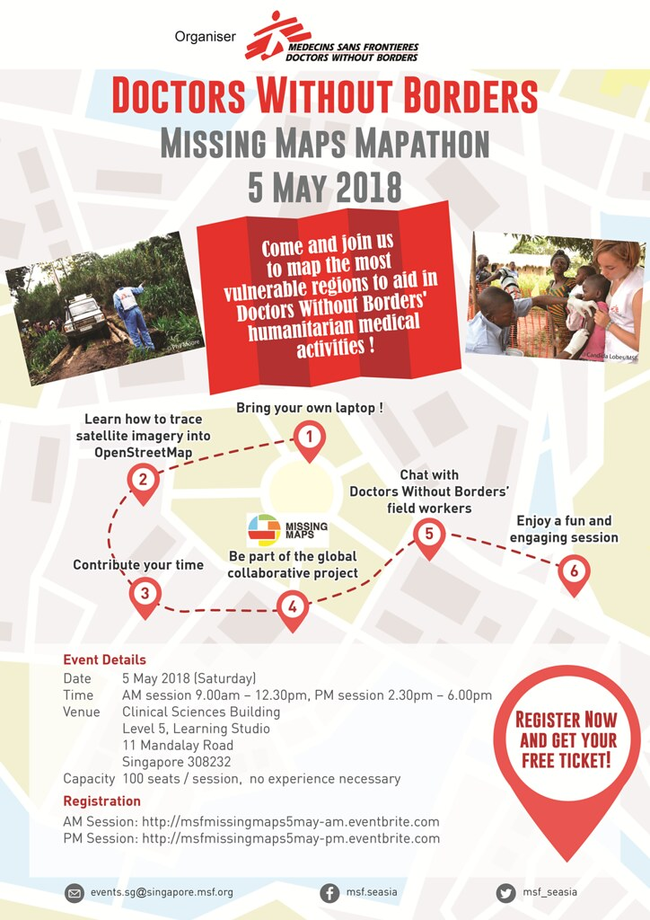 Doctors Without Borders: Missing Maps Mapathon (5 May 2018