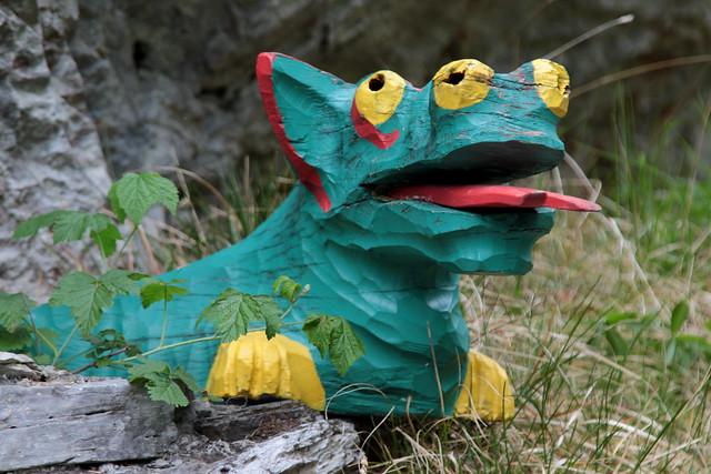Drache - Lindenwurm der Aareschlucht im Haslital im Berner Oberland im Kanton Bern der Schweiz