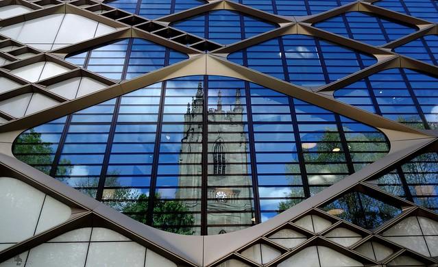 diamond building reflection
