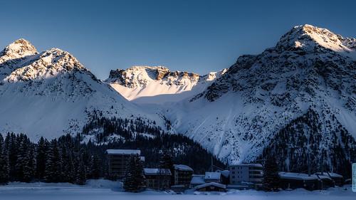 schnee 50mm nikon sunset panshot switzerland graubünden mv alpen arosa schweiz deeplyimpressed alpenglühen nikkor nikond750 sonne berge