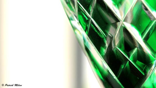 Green Saint Louis glass detail