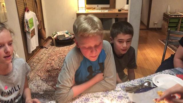 singing happy birthday to Owen