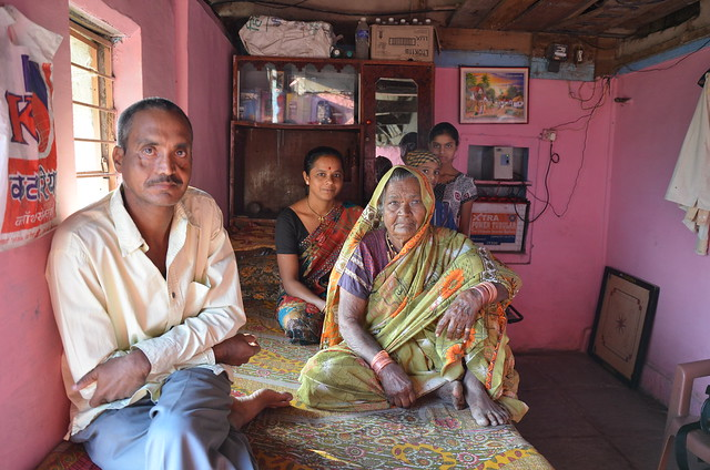 farmer Dhyandev Gade and family growing dhanshakti millet