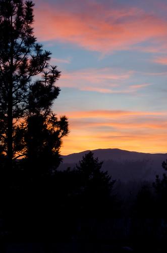 winter sunset montana missoula