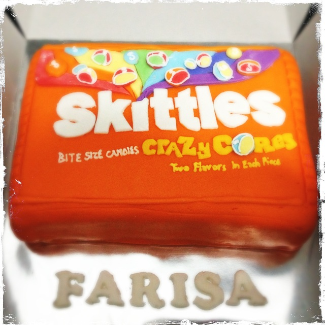Excellent Farisas Skittles Birthday Cake Rich Chocolate Cake With Flickr Birthday Cards Printable Benkemecafe Filternl