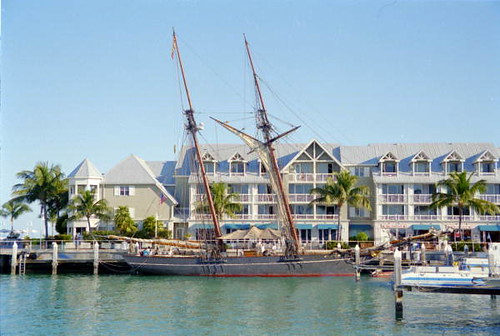 Replica of the slave ship Amistad docked at Key West | by State Library and Archives of Florida
