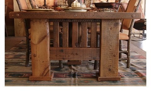 Rustic Tables Mission Dining Table Tuscan Dining Room Fu