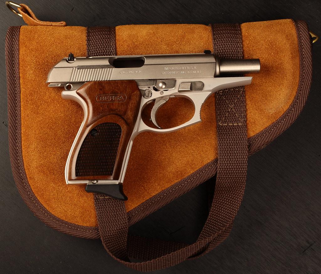 Satin Nickel Bersa Thunder  380 Handgun | Satin Nickel Bersa