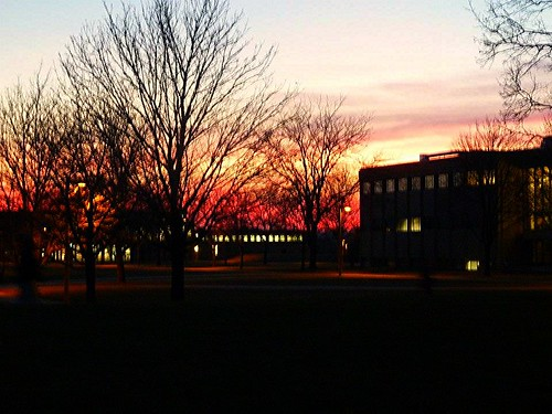Sunset at Gustavus Adolphus College, St. Peter, MN | by stephanie.lafayette
